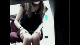 Asian Girl Masturbates Under The Table – BasedCams.com
