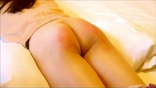 Chinese Ass punished with the cane