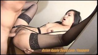 Skiiny Horny Asian Girl turns into a hooker
