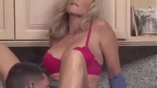 Swedish Horny son forced with his mother in kitchen !
