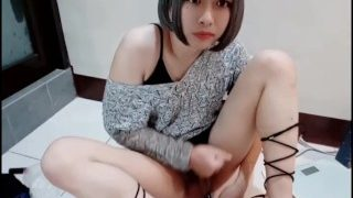 Taiwan CD,crossdressing and jerking off part.2